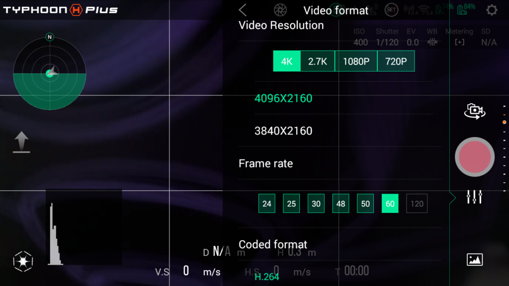 VIDEO SETTINGS ST16S