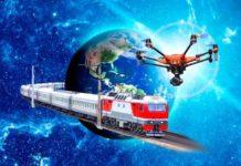 Дроны на железной дороге